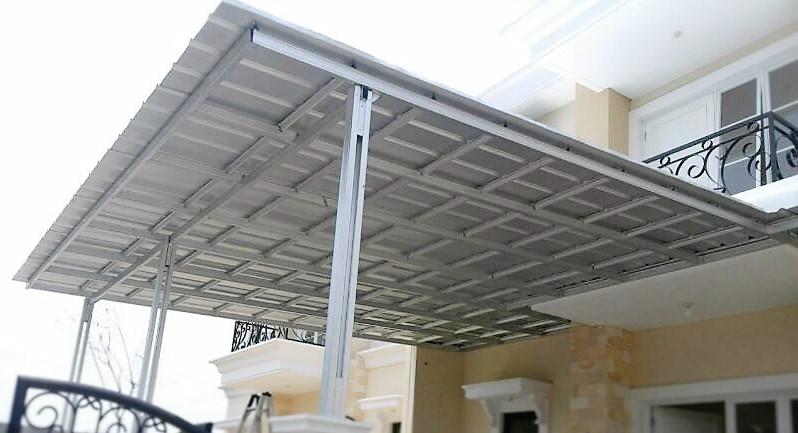 Hasil gambar untuk kanopi baja ringan